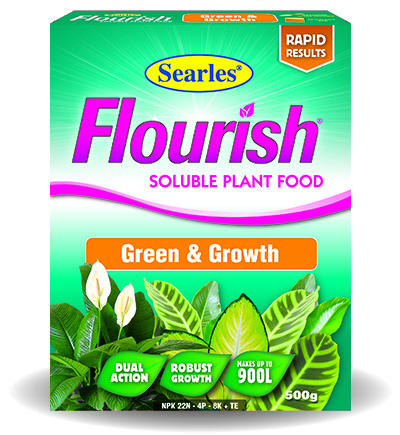 Searles Flourish Green and Growth Premium Plant Food 500g