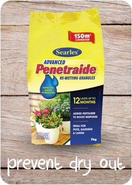 Penetraide Re-wetting granules - prevent dry out in soil