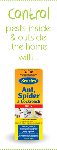 Searles Gardening Problem solver Control ants, spider, cockroaches, fleas inside and outside the home safely