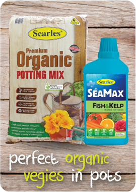 Searles Garden Products   Soil Mix Fertiliser Plant Food For Growing  Healthy Organic Vegetables In Pots