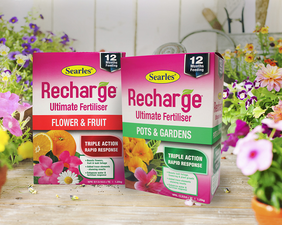 Searles Recharge Ultimate Plant Fertiliser for pots, gardens, flowers and fruit