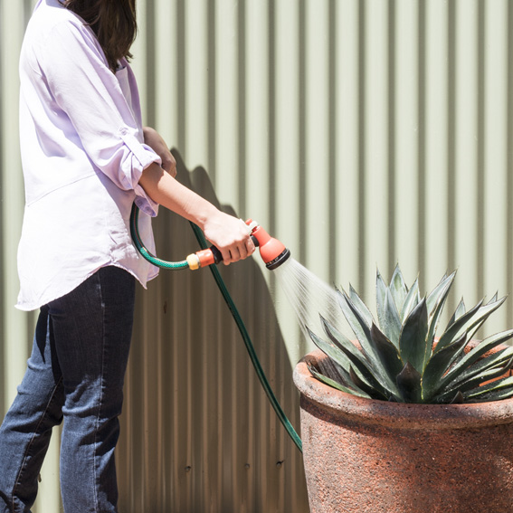 Tips to water garden and pots easier - prevent gardening injuries