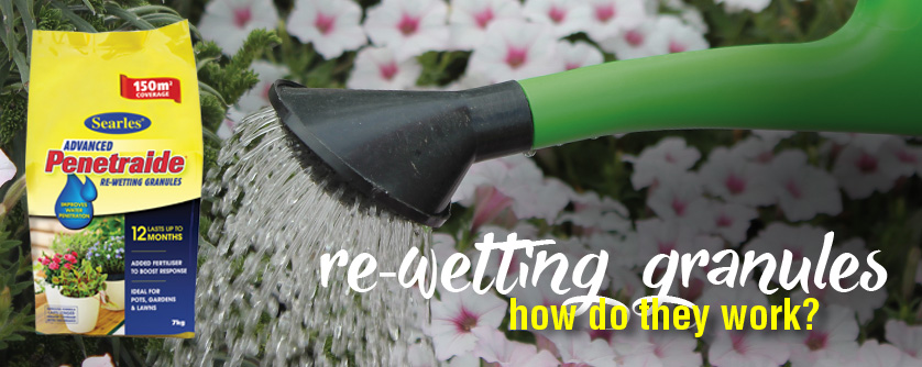 How do re-wetting granules work - prevent soil dry out