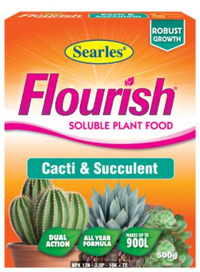Searles Flourish Cacti Succulent Sol Plant Food 500g Searles