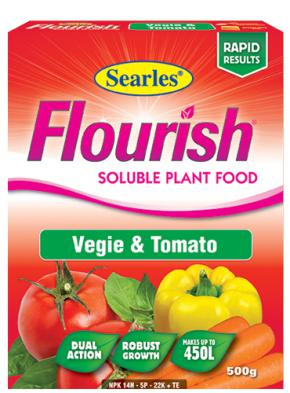 Searles Flourish Vegie & Tomato Sol Plant Food 500g