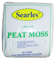 Searles Mini Bale Peat Moss 50Lt