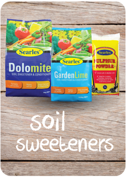 What is the difference between soil sweeteners - dolomite, lime and sulphur